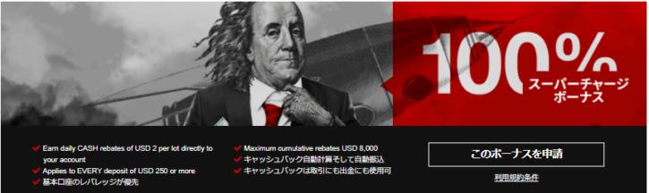 HotForex100%スーパーチャージボーナス