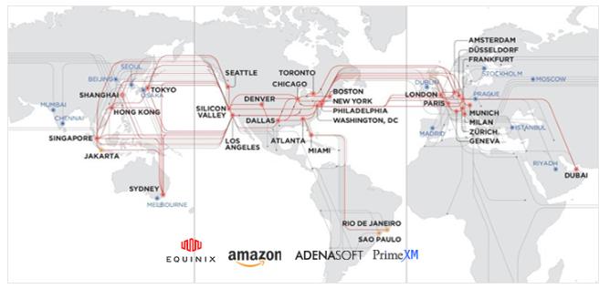 世界地図とLPの分布図