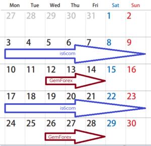 入金ボーナスカレンダー3