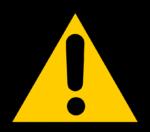 『注意』の標識