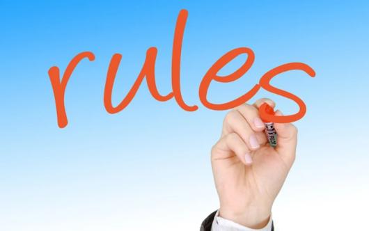 「rules」の文字